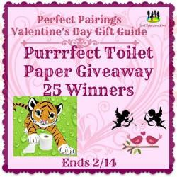 Purrrfect Toilet Paper Giveaway – 25 Winners! (2/14 US)