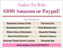 $100 Amazon Or PayPal Giveaway (1/22 US)