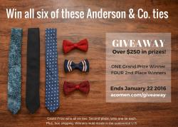 Anderson & Company Six Tie Gift Pack