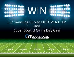 "55"" Samsung Curved UHD TV And Super Bowl LI Game Day Gear"