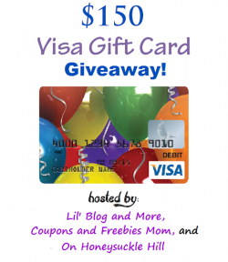 $150 Visa Gift Card Giveaway (4/21 WW)
