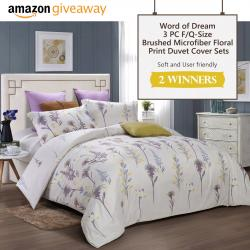 Word Of Dream F/Q-Size 3 PC Brushed Microfiber Floral Print Duvet Cover Sets