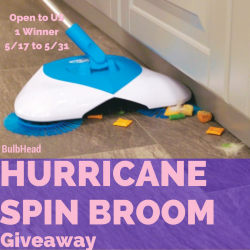 Hurricane Spin Broom Giveaway (5/31 US)