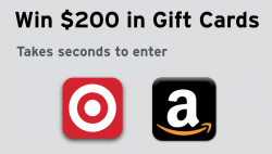 $100 Target & $100 Amazon Gift Cards Giveaway