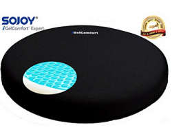 Sojoy IGelComfort Medical Deluxe Gel Swivel Seat Cushion Featured With Memory Foam