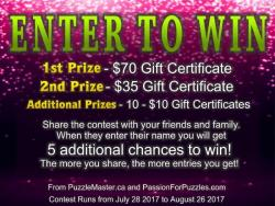 Gift Certificate For $70 From Puzzlemaster.ca