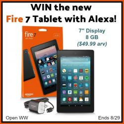 Kindle Fire 7 Tablet With Alexa Giveaway