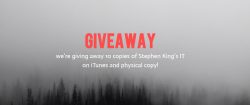 Stephen King's IT On ITunes Physical Copy