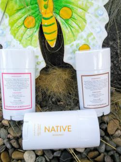 Three Native Deodorants (in Your Choice Of Scents)