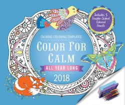 Color For Calm All Year Long 2018 + 5 Double-sided Colored Pencils