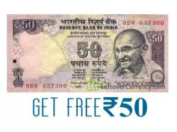 Get Free Rupees 50