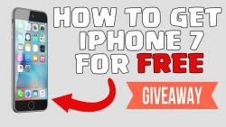 Iphone 7 GIVEAWAY NOW!!!