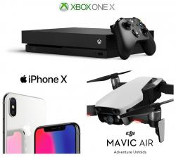 IPhone X, Mavic Air Or XBOX One X: You Decide The Prize