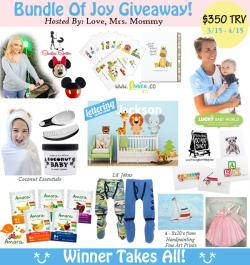 Bundle Of Joy Giveaway -$350 In Prizes (4/15 US)