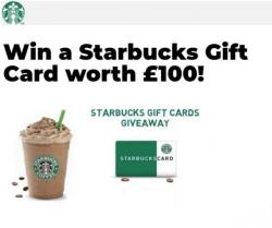 £100 Starbucks Voucher