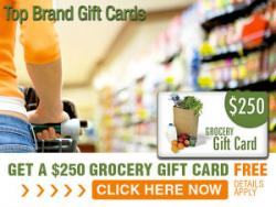 FREE $100 Grocery Gift Cards For You....