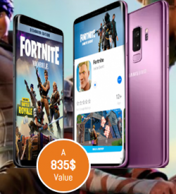 Win A New Samsung S9 To Play Fortnite On Android.