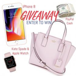 Winner's Choice; IPhone 8, Kate Spade Bag & IWatch Or $700 Cash