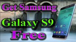 Get The New Sumsung Galaxy S9 For Free