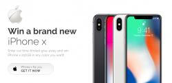 **Win A Brand New IPhone X** (free)