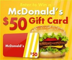 Win A $50 McDonald's Arch Gift Card