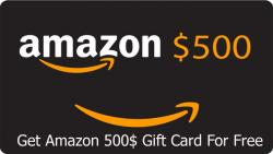Get $500 Amazon Gift Cards Now.
