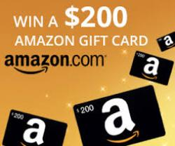 Get Amazon $200 Gift Card