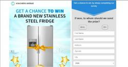 GET A CHANCE TO WIN A BRAND NEW STAINLESS STEEL FRIDGE