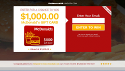 Enter For A Chance To Win A $1000 McDonalds Giftcard!