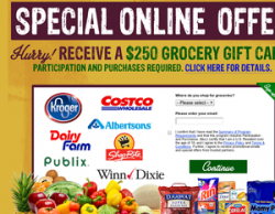 Receive A $250 Grocery Gift Card