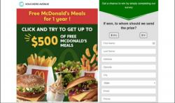 Free Mc Donal's Meal's For 1 Year
