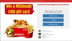 Get $100 To Spend At McDonalds
