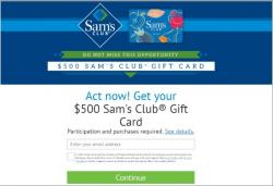 Get A $500 Sams Club Gift Card!