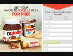 Your Chance To Win Nutella Package