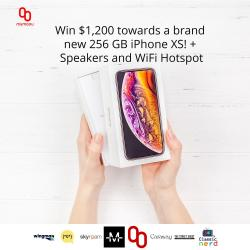 Win An IPhone XS + Speakers And WiFi Hotspot!