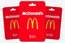 Win A $100 McDonalds Gift Cards