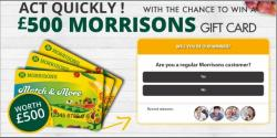Get A £500 Morrisons Gift Card!