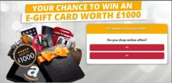 Get A £1000 Shopping E-Gift Card!