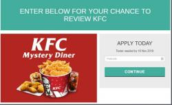 Become A KFC Mystery Diner Now!