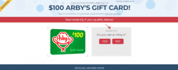 Get $100 To Eat At Arbys Now!