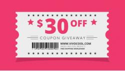 Win 2 X $30 Coupon Code With VIVOCOOL.COM