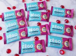 20 Full-sized Zego Berry Chocolate Decadence Bar