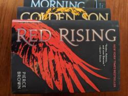 Hardcover Copies Of The First 3 Books In Pierce Brown's Red Rising Series