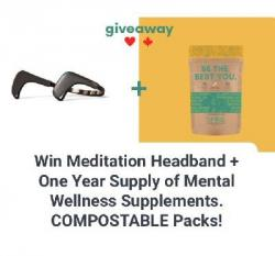 Win Meditation Headband + One Year Supply Of Natural Mental Wellness Supplements