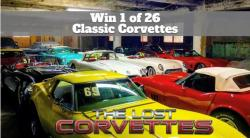 Win 1 Of 26 Classic Corvettes...One Is Worth $500,000!