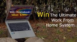 Win A Work From Home System With Chromebook! Value: $2997