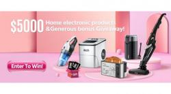 Win In Our $5,000 Home Electronics Giveaway