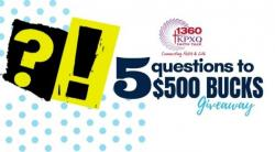 5 Questions To 500 Bucks Give-Away