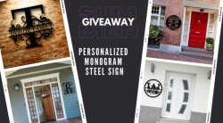 Win A Personalized Monogram Steel Sign