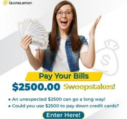 Pay Your Debt Sweepstakes!